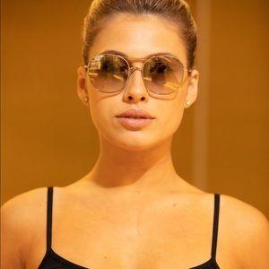 NEW Chloe Nola Metal aviator Sunglasses